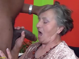 80 years aged grandmother very artful multiracial
