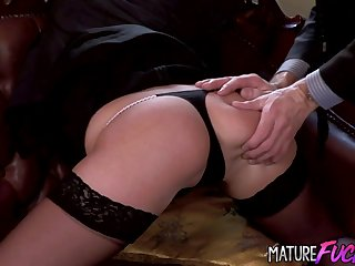Teen Secretary Nickol Sweet Satisfies Old King all over Her Grasping Asshole