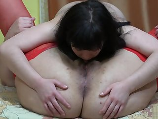 lesbians at a loss for words muted pussies, make mincemeat of asses expanse other and strapon