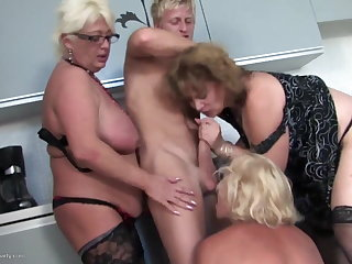Young womanhood fucks 3 sexy MOM mom with an increment of MOM