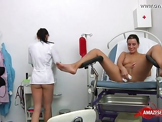 Hot doctor and my sister medical exam