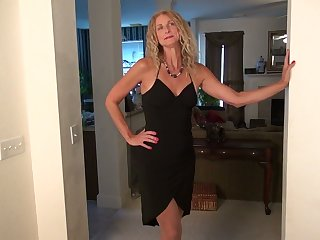 Long-legged increased by tall blonde with tan lines Zoe Marks plays with her nasty pussy