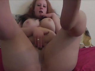 Downcast German Betrothed Muff Masturbates In Her Pantyhose