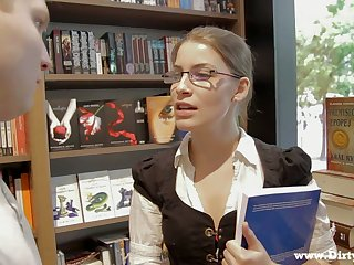 Mug up gal in glasses Zena Little is ready to ride strong boner cock