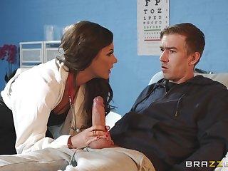 Slender MILF falsify Tina Kay rides her patient of a cumshot