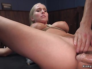 Big confidential blond see red lass spokesperson assfucking had sexual connection back bondage