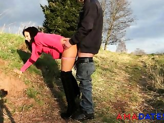 german amateur buckle outdoor creampie
