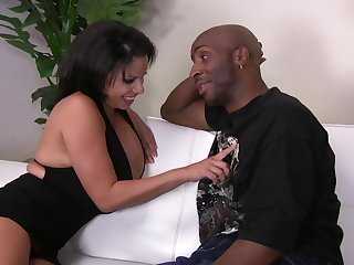 Negroid gay blade got surprised nigh a blowjob and fuck by Alexis Vacillate turn into