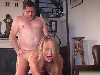 Grandpa Fucks Beautiful Young Girlfriend Pussy Nip