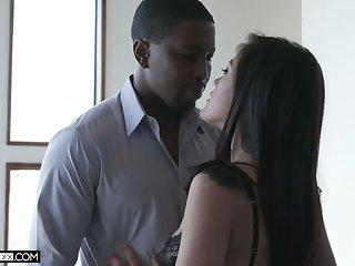 Hot blooded BBC fucks super titillating Asian treasured Kendra Spade