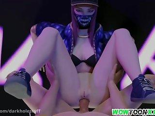Sexy brunette asian babe called Mei from Overwatch divertissement immense perfect footjob massage