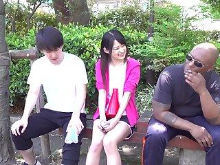 Mitsuki Nagisa cheats on BF back Fat Funereal COCK - interracial