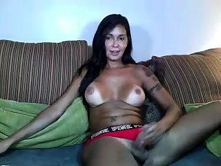 Latin boom box Jessy Dubai fucked sexy shemale Eva Cassini