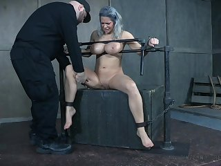 Busty MILF receives way too much BDSM knock out
