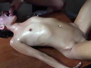 Bar Gangbang - skinny bitches bukkake