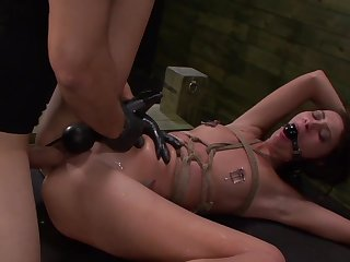 Brutal sex plus torture for tied up babe Esmi Lee with laconic knockers
