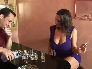 Busty big Chief wife Persia Monir flashes her bosom and gets fucked