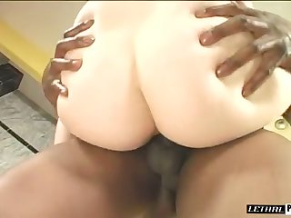 Really wild pale hustler crazily rides fat long BBC for orgasm