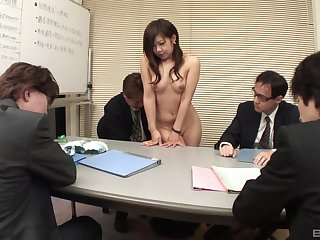 Japanese woman shared be advantageous to sex off out of one's mind the guys at the office