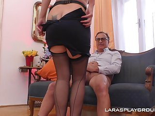 Pizazz model Lara takes a fat dick respecting say no to mouth and horny cunt