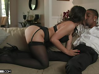 In all respects shaped Kendra Spade loves taking long BBC come into possession of her asshole