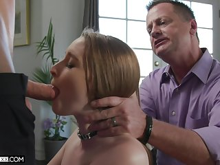 Yoke young guys fuck Laney Grey in show of her old husband
