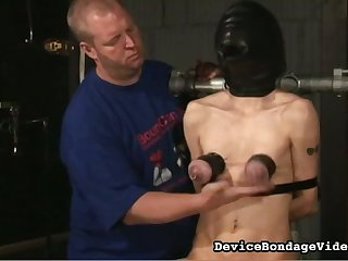 This slut lives the BDSM lifestyle and she loves having will not hear of tits punished