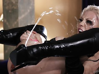 Spew goddess Barbie Sins getting thoroughly fucked