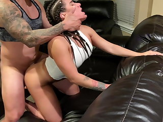 She sought-after her ass fucked before watching TV and chilling.