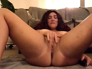 Big ass hole brunette get used to to huge gabbing has